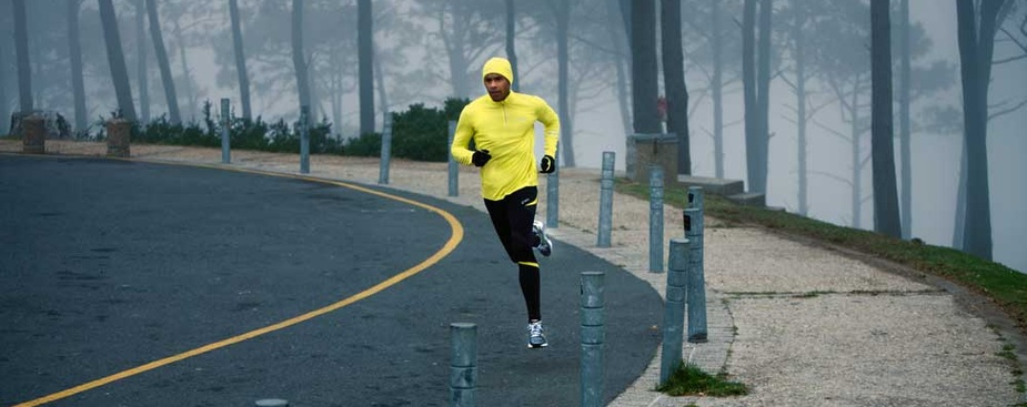 Running in winter can look this effortless, honestly!
