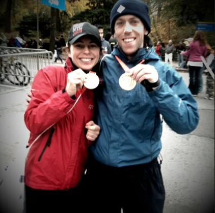 Me and the future Mrs. Freeman just after the New York Marathon 2009