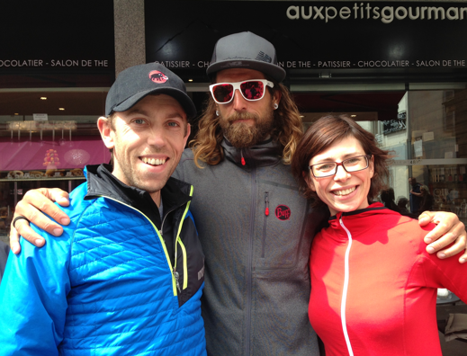 Anton, Julie and me (and my inov-8 Thermoshell!)