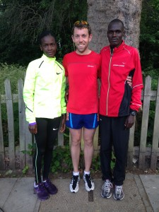 Two elite runners... and me!