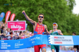 Mario Mola, winner of the men's race in the World Triathlon  Series race in London